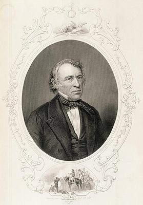 General Zachary Taylor, from 'The History of the United States', Vol. II, by Charles Mackay, engraved by T. W. Hunt from a daguerrotype (engraving) by Brady, Mathew (1823-96) (after)