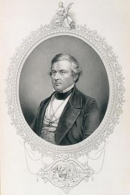 Millard Fillmore, from 'The History of the United States', Vol.II, by Charles Mackay, engraved by W.J. Edwards from a daguerrotype (engraving) by Brady, Mathew (1823-96) (after)