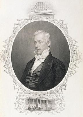James Buchanan, from 'The History of the United States', Vol. II, by Charles Mackay (engraving) by American School, (19th century)
