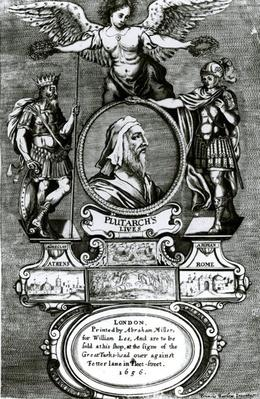 Frontispiece of 'Plutarch's Lives' by Plutarch