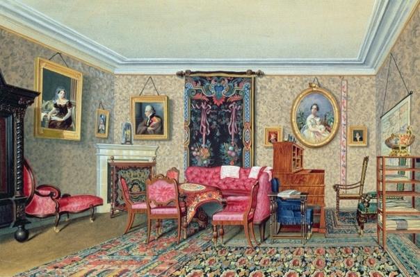 Interior in Pavlino, 1840s