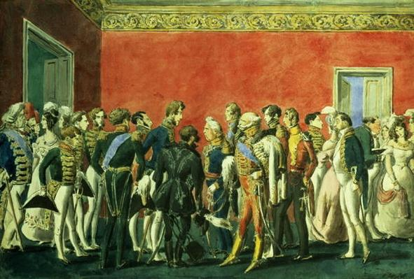 A Reception in the Embassy of Teheran, 1830s