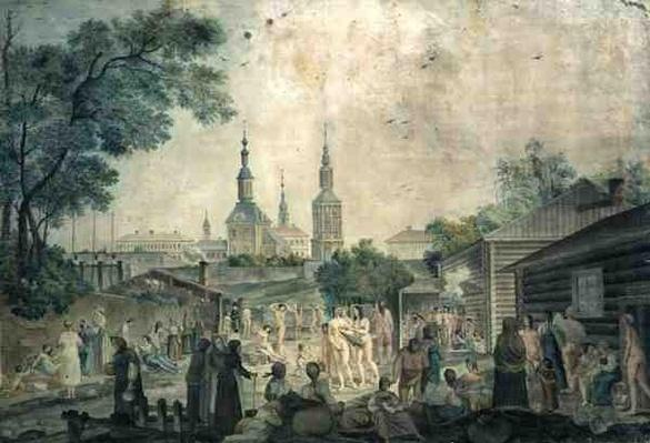 A Cure Bath in Moscow, 1790