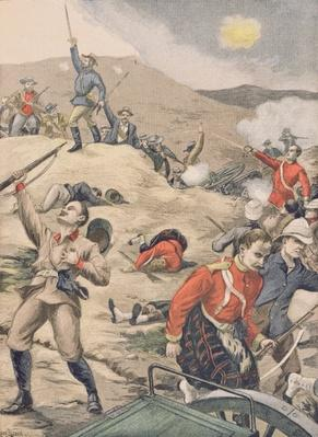 In Transvaal, the taking of an English battery by the Boers, illustration from 'Le Petit Journal', 28th January 1900