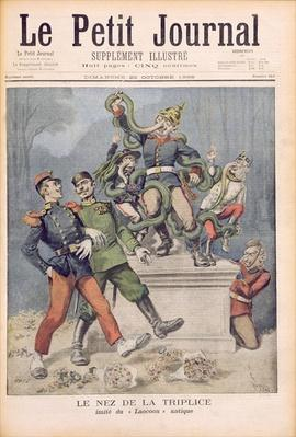 The Allies' Nose, after Laocoon, from 'Le Petit Journal', 25th October 1896