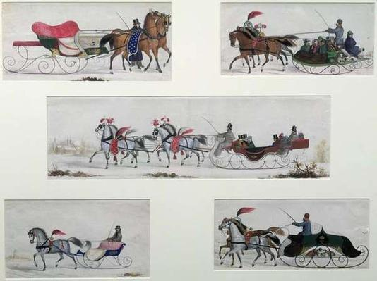 Russian Horse Drawn Sleighs