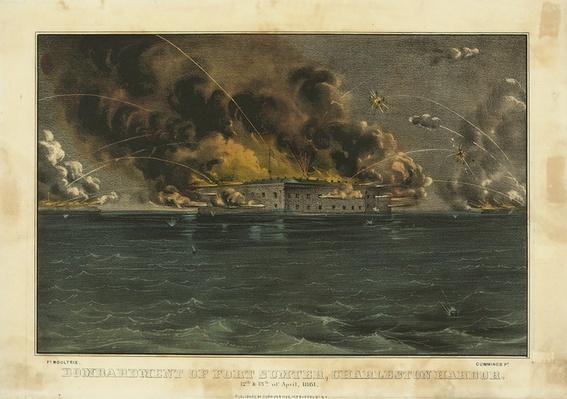 Confederates Fire on Fort Sumter, April 12, 1861 | Ken Burns: The Civil War