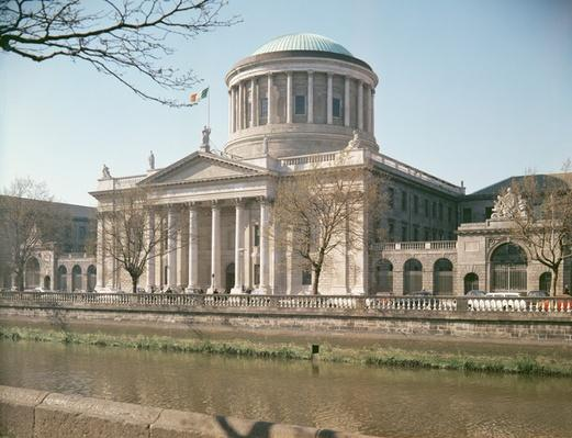 Four Courts, Dublin, seen from the River Liffey, built 1796-1802