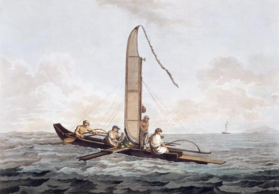 A Sailing Canoe of Otaheite, from 'Views in the South Seas', pub. 1792