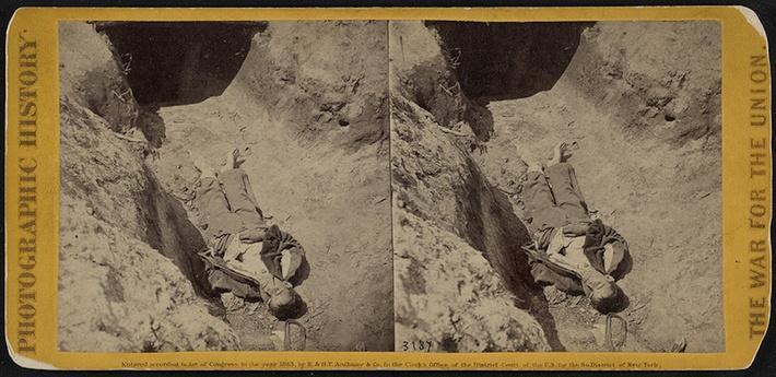 Dead Confederate in Fort Mahone, 1865 | Ken Burns: The Civil War