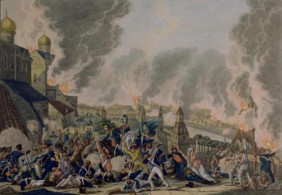 The Burning of Moscow, 15th September 1812, 1813