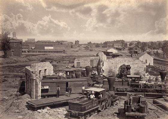 Destroyed Roundhouse, 1866 | Ken Burns: The Civil War
