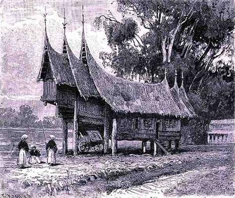 House in Central Sumatra, engraved by E. Krell, from 'The History of Mankind', Vol.1, by Prof. Friedrich Ratzel, 1896