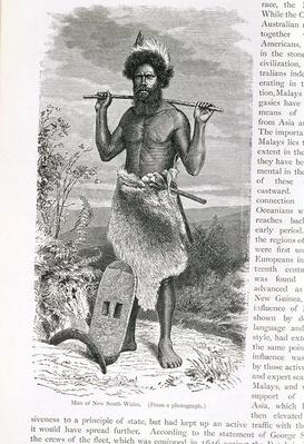 Man of New South Wales, from 'The History of Mankind', Vol.1, by Prof. Friedrich Ratzel, 1896