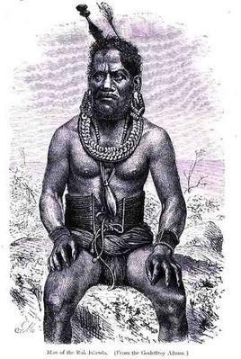 Man of the Ruk Islands, from 'The History of Mankind', Vol.1, by Prof, Friedrich Ratzel, 1896