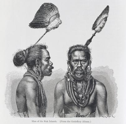 Man of the Ruk Islands, from 'The History of Mankind', Vol.1, by Prof. Friedrich Ratzel, 1896