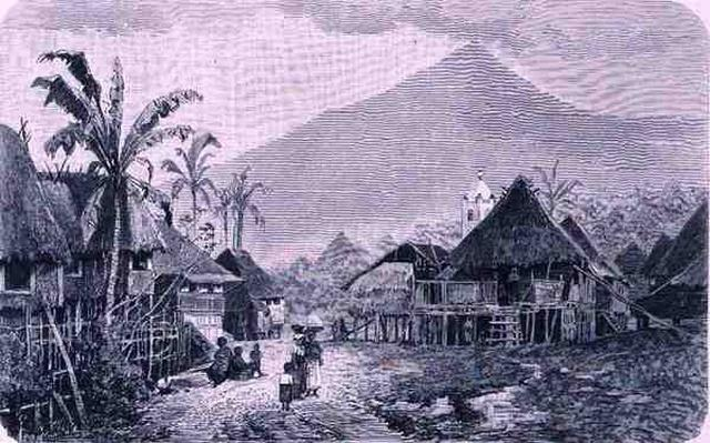 A Tagal village, Luzon in the Philippines, from 'The History of Mankind', Vol.1, by Prof. Friedrich Ratzel, 1896