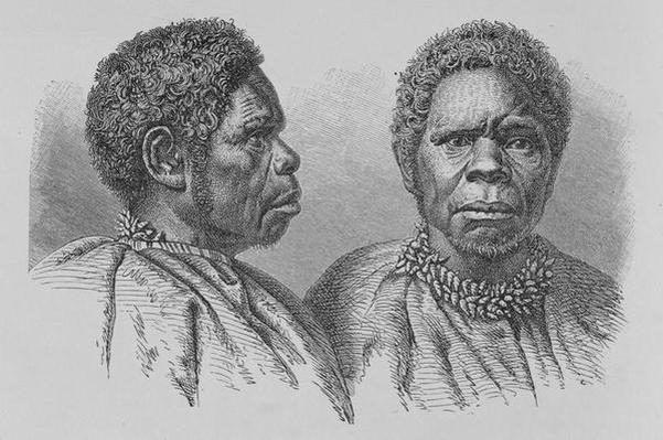Truganina, the last Tasmanian woman, from 'The History of Mankind', Vol.1, by Prof. Friedrich Ratzel, 1896