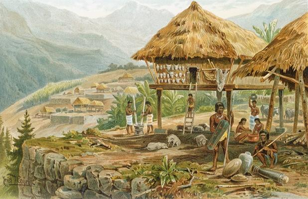 Igorrote farm in Luzon, Philippines, from 'The History of Mankind', Vol.1, by Prof. Friedrich Ratzel, 1896