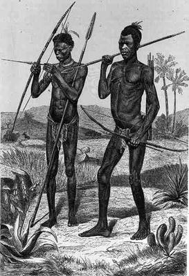 Makaraka warriors, from 'The History of Mankind', Vol.III, by Prof. Friedrich Ratzel, 1898