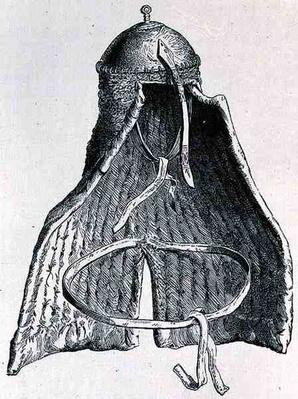 Nubian helmet, from 'The History of Mankind', Vol.III, by Prof. Friedrich Rayzel, 1898