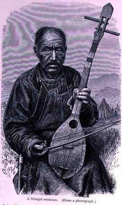 A Mongol musician, from 'The History of Mankind', Vol.III, by Prof. Friedrich Ratzel, 1898