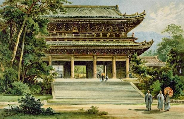 Buddhist temple at Kyoto, Japan, from 'The History of Mankind', Vol.III, by Prof. Friedrich Ratzel, 1898