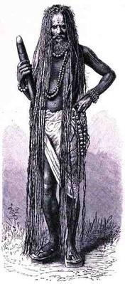 Indian fakir, from 'The History of Mankind', Vol.III, by Prof. Friedrich Ratzel, 1898