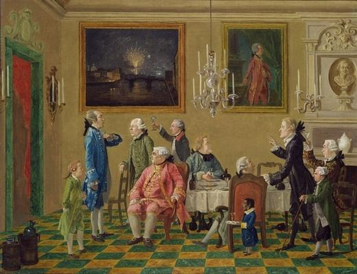 British gentlemen at Sir Horace Mann's home in Florence, c.1763-65