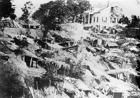 Quarters of Logan's Division in the Trenches, Vicksburg, MS | Ken Burns: The Civil War