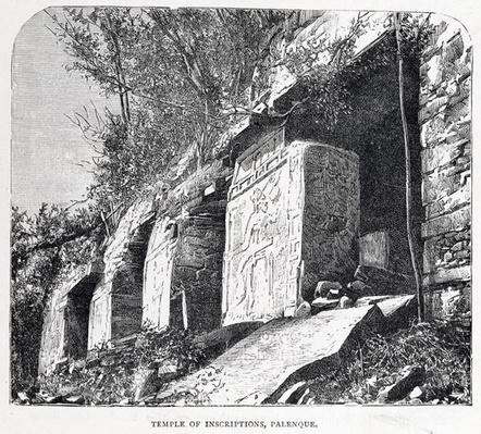 Temple of Inscriptions, Palenque, from 'The Ancient Cities of the New World', by Claude-Joseph-Desire Charnay, pub. 1887