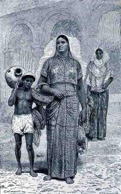Tehuantepec Women, from 'The Ancient Cities of the New World', by Claude-Joseph-Desire Charnay, pub. 1887