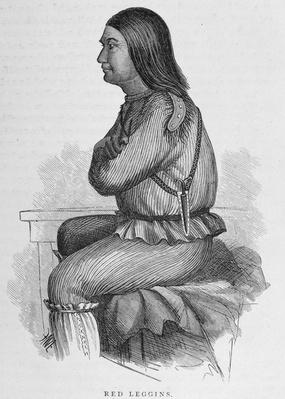 Red Leggins, Chief at Fort Yukon, from 'Alaska and its Resources', by William H. Dall, engraved by John Andrew, pub. 1870