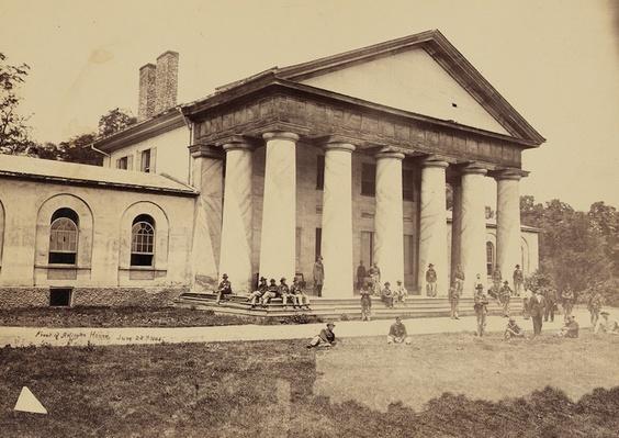 Arlington House, Robert E. Lee's Former Home, 1864 | Ken Burns: The Civil War