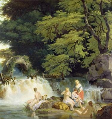 The Salmon Leap at Leixlip with Nymphs Bathing, 1783