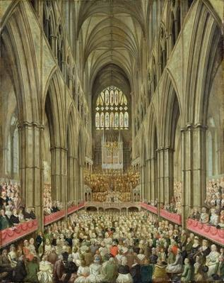 An Interior View of Westminster Abbey on the Commemoration of Handel's Centenary, Taken from the Manager's Box, c.1793