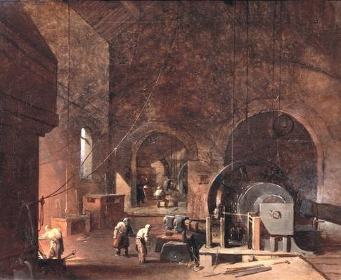 Interior of an Ironworks, c.1850-60