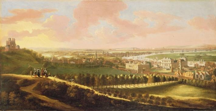 London from Greenwich Hill, c.1680
