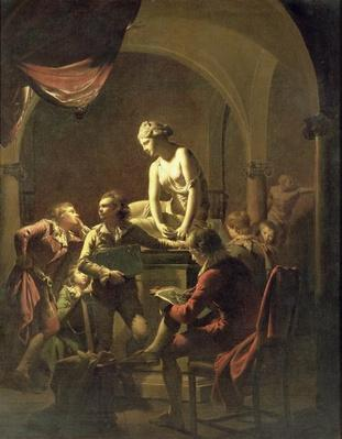 An Academy by Lamplight, c.1768-69