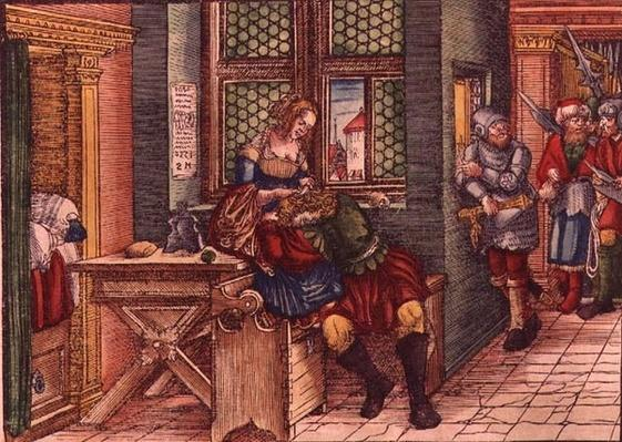 Samson and Delilah, from the Luther Bible, c.1530