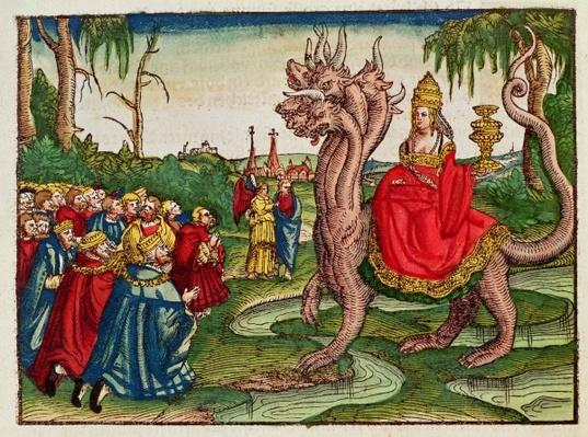 The Whore of Babylon, from the Luther Bible, c.1530