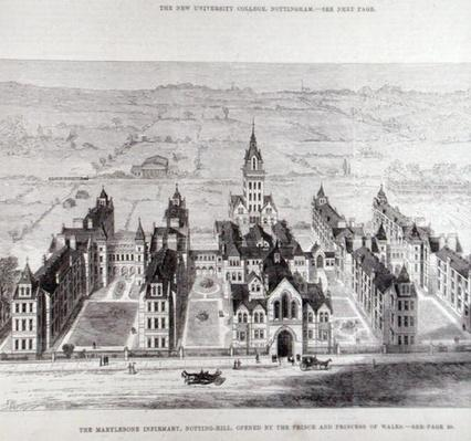 The Marylebone Infirmary, Notting Hill, Opened by the Prince and Princess of Wales, from 'The Illustrated London News', 7th February 1881