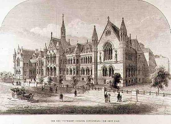 The New University College, Nottingham, from 'The Illustrated London News', 7th February 1881