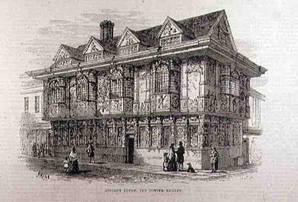 Ancient House in the Old Butter Market, Ipswich, from 'The Illustrated London News', 23rd July 1881