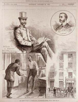 The Arrest of Mr. C.S. Parnell, MP, at Morrison's Hotel, Dublin, from 'The Illustrated London News', 22nd October 1881