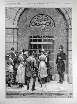 Waiting to See the Prisoners; A Sketch at Kilmainham Jail, Dublin, from 'The Illustrated London News', 11th May 1881