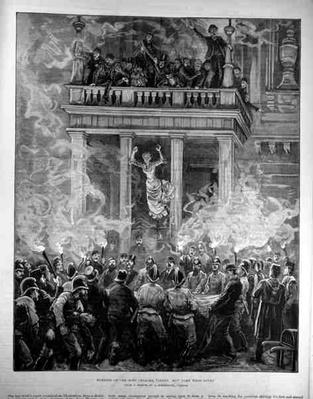 Burning of the Ring Theatre, Vienna: How Some were Saved, from 'The Illustrated London News', 24th December 1881