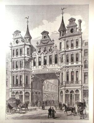 New Leadenhall Market, from 'The Illustrated London News', 24th December 1881