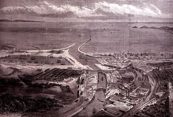 The Swansea Harbour and Docks, from 'The Illustrated London News', 22nd October 1881