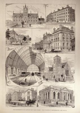 The Middlesbrough and Cleveland Iron Trade Jubilee: Public Buildings in Middlesbrough, from 'The Illustrated London News', 10th August 1881